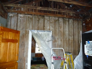 Exposed exterior barn walls