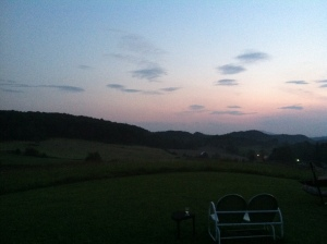Twilight on the farm