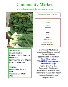 Community market flyer