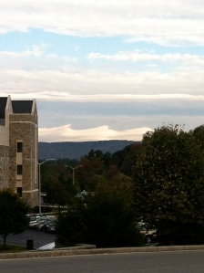 Clouds look like waves
