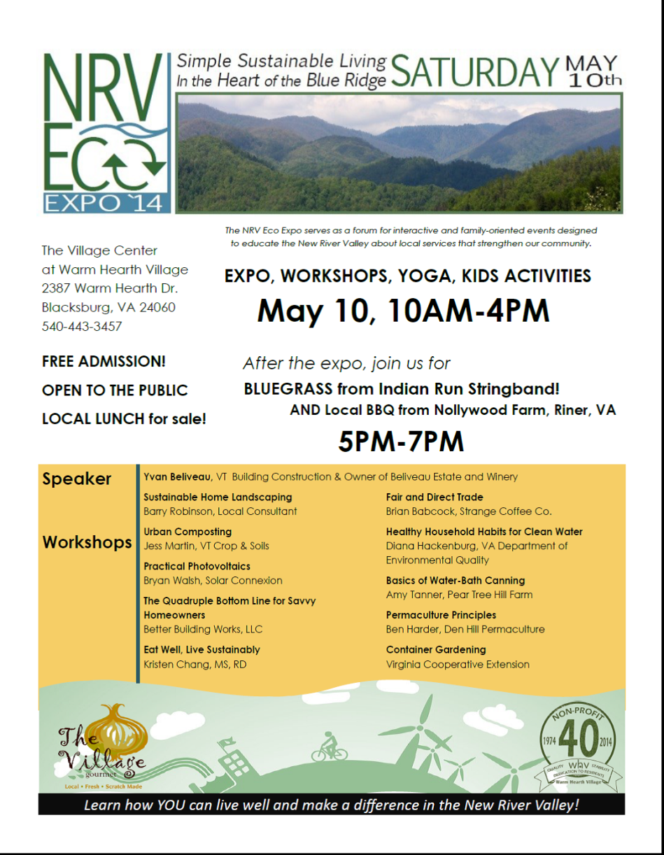 May 10th NRV ECO EXPO