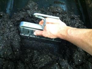 Press block in soil