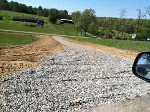 1st gravel layer
