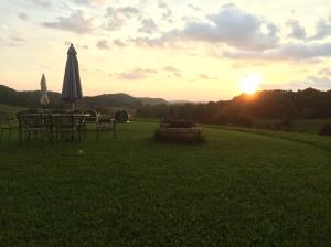 Rain-free sunset