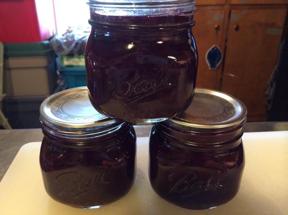 Organic grape jam