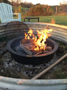 Enjoying the new fire pit!